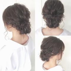 シニヨン 結婚式 ロング 大人かわいい ヘアスタイルや髪型の写真・画像
