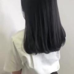 暗髪 ロング グレージュ 透明感カラー ヘアスタイルや髪型の写真・画像
