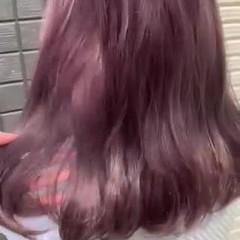 ラベンダーグレージュ ピンクラベンダー ラベンダーカラー ロング ヘアスタイルや髪型の写真・画像