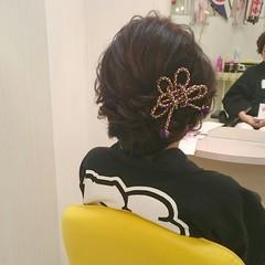 ヘアアレンジ 着物 お祭り 和服 ヘアスタイルや髪型の写真・画像