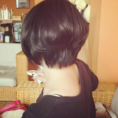 黒髪 ナチュラル ショートボブ 艶髪 ヘアスタイルや髪型の写真・画像