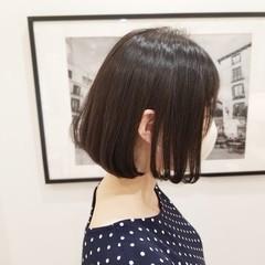 ミニボブ ボブ 前下がりボブ 内巻き ヘアスタイルや髪型の写真・画像