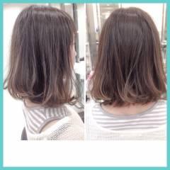 ミディアム グラデーションカラー ストリート ハイライト ヘアスタイルや髪型の写真・画像