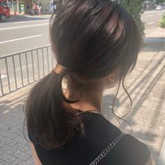 ヘアアレンジ アッシュベージュ ベージュカラー ナチュラル ヘアスタイルや髪型の写真・画像