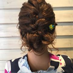 アッシュ ヘアアレンジ ゆるふわ セミロング ヘアスタイルや髪型の写真・画像