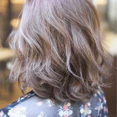 ミディアム ハイトーン ダブルカラー グラデーションカラー ヘアスタイルや髪型の写真・画像