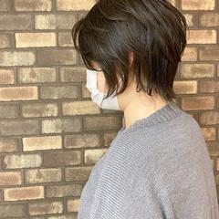 透明感 大人ショート イルミナカラー 艶髪 ヘアスタイルや髪型の写真・画像
