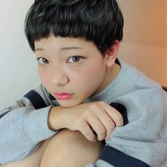 小顔 ベリーショート ショート 大人かわいい ヘアスタイルや髪型の写真・画像