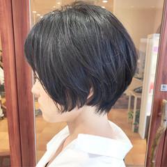 ショートボブ ショートヘア ショート コンサバ ヘアスタイルや髪型の写真・画像