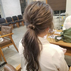 ヘアアレンジ 外国人風 ハイライト ミルクティーベージュ ヘアスタイルや髪型の写真・画像