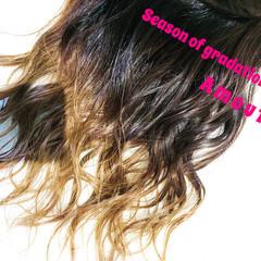 ストリート 外国人風 セミロング 外国人風カラー ヘアスタイルや髪型の写真・画像