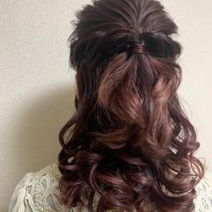 ヘアアレンジ  フェミニン ふんわり ヘアスタイルや髪型の写真・画像