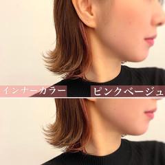 グレージュ 外国人風カラー ボブ イルミナカラー ヘアスタイルや髪型の写真・画像
