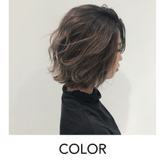 ミルクティーグレージュ ストリート グラデーションカラー グレージュ ヘアスタイルや髪型の写真・画像