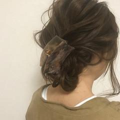 女子会 セミロング 簡単ヘアアレンジ ヘアアレンジ ヘアスタイルや髪型の写真・画像