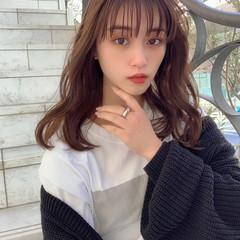 ナチュラル ゆるウェーブ 大人かわいい 韓国ヘア ヘアスタイルや髪型の写真・画像