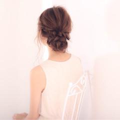 ヘアアレンジ お団子 結婚式 上品 ヘアスタイルや髪型の写真・画像