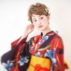 ヘアアレンジ ショート 外国人風 簡単ヘアアレンジ ヘアスタイルや髪型の写真・画像
