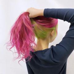 ハイトーン モード ロング 派手髪 ヘアスタイルや髪型の写真・画像