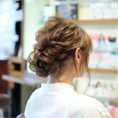 ヘアアレンジ ゆるふわ シニヨン ロング ヘアスタイルや髪型の写真・画像