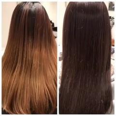 ナチュラル 艶髪 ストレート ロング ヘアスタイルや髪型の写真・画像