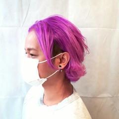 ボーイッシュ ネオンカラー ストリート カラーバター ヘアスタイルや髪型の写真・画像