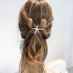 ヘアアレンジ 女子会 簡単ヘアアレンジ ショート ヘアスタイルや髪型の写真・画像
