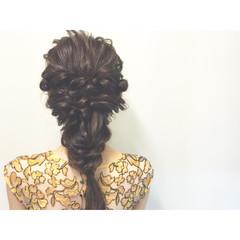 花火大会 ショート ハーフアップ 夏 ヘアスタイルや髪型の写真・画像