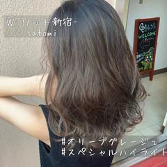 上品 外国人風 セミロング イルミナカラー ヘアスタイルや髪型の写真・画像