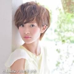 フェミニン モテ髪 ナチュラル ショート ヘアスタイルや髪型の写真・画像
