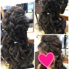 結婚式 ヘアアレンジ デート ハーフアップ ヘアスタイルや髪型の写真・画像