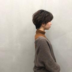 マッシュショート ナチュラル 簡単スタイリング ハンサムショート ヘアスタイルや髪型の写真・画像