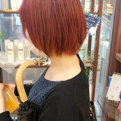 ピンク ストリート ベリーピンク ピンクベージュ ヘアスタイルや髪型の写真・画像