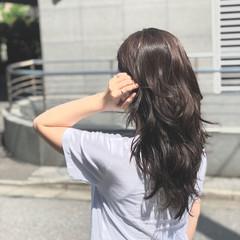 エレガント 黒髪 デート パーマ ヘアスタイルや髪型の写真・画像