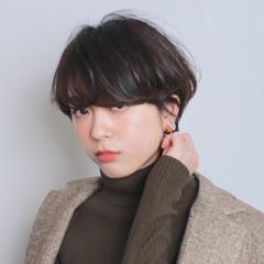 ショート ナチュラル ショートボブ 簡単ヘアアレンジ ヘアスタイルや髪型の写真・画像