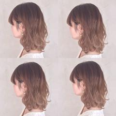 ガーリー イルミナカラー ボブ 外国人風 ヘアスタイルや髪型の写真・画像