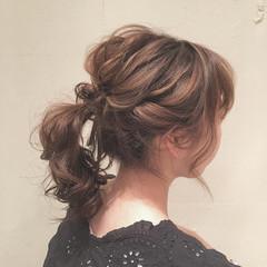 ナチュラル ゆるふわ ミディアム ヘアアレンジ ヘアスタイルや髪型の写真・画像