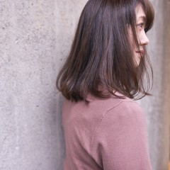 ミディアム 大人ヘアスタイル 大人ミディアム 内巻き ヘアスタイルや髪型の写真・画像