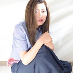 小顔 ニュアンス 大人女子 ミディアム ヘアスタイルや髪型の写真・画像