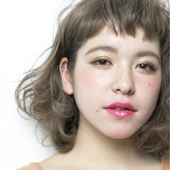 ストリート ゆるふわ ショートバング 外国人風 ヘアスタイルや髪型の写真・画像