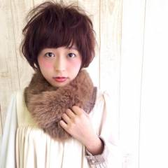 ゆるふわ ショート モテ髪 ガーリー ヘアスタイルや髪型の写真・画像