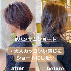 ショート ショートボブ ミニボブ ベリーショート ヘアスタイルや髪型の写真・画像