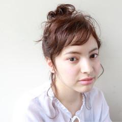 ナチュラル 簡単ヘアアレンジ 外国人風 セミロング ヘアスタイルや髪型の写真・画像