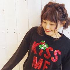 秋冬スタイル 簡単ヘアアレンジ ボブ フェミニン ヘアスタイルや髪型の写真・画像