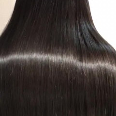美シルエット 艶髪 ナチュラル ロング ヘアスタイルや髪型の写真・画像