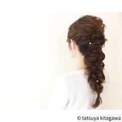 ゆるふわ グラデーションカラー 結婚式 花嫁 ヘアスタイルや髪型の写真・画像