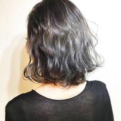 ストリート アッシュ 色気 ボブ ヘアスタイルや髪型の写真・画像