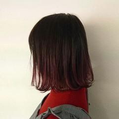 グラデーションカラー ストリート ピンク ダブルカラー ヘアスタイルや髪型の写真・画像