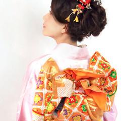 謝恩会 ロング ヘアアレンジ 結婚式 ヘアスタイルや髪型の写真・画像