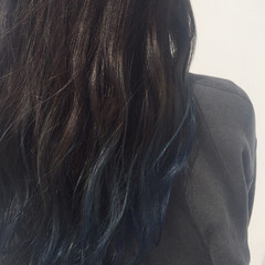 黒髪 グラデーションカラー 暗髪 ロング ヘアスタイルや髪型の写真・画像